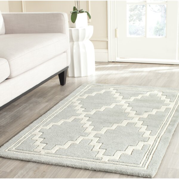 Wilkin Hand-Tufted Wool Gray Rug by Wrought Studio