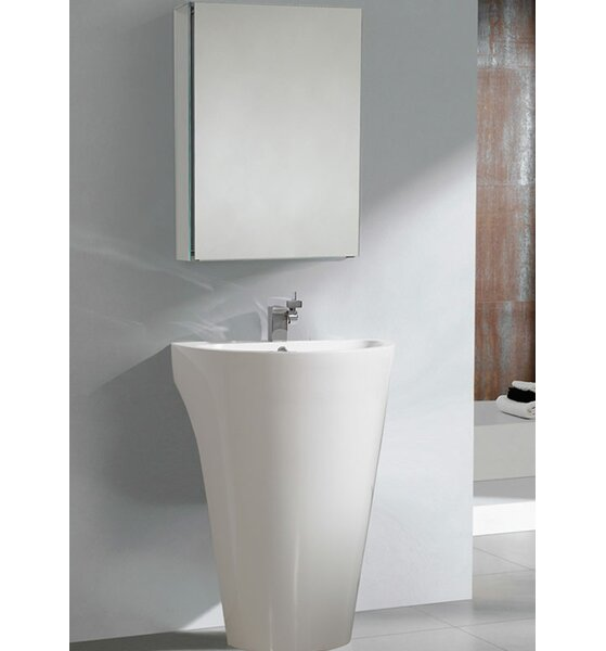 Parma 23 Single Pedestal Modern Bathroom Vanity Set with Mirror by Fresca