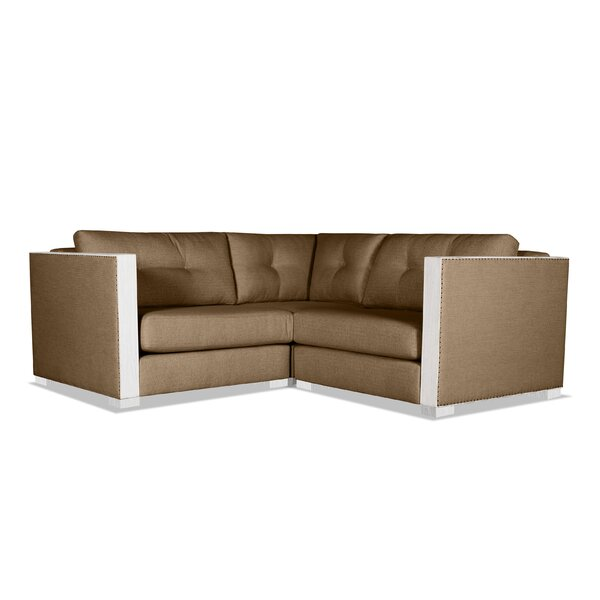 Steffi Buttoned Right and Left Arms L-Shape Mini Modular Sectional by Orren Ellis