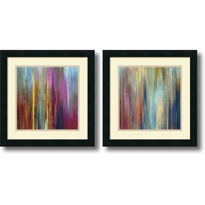 'Sunset Falls' by John Butler 2 Piece Frame Painting Print Set by Amanti Art