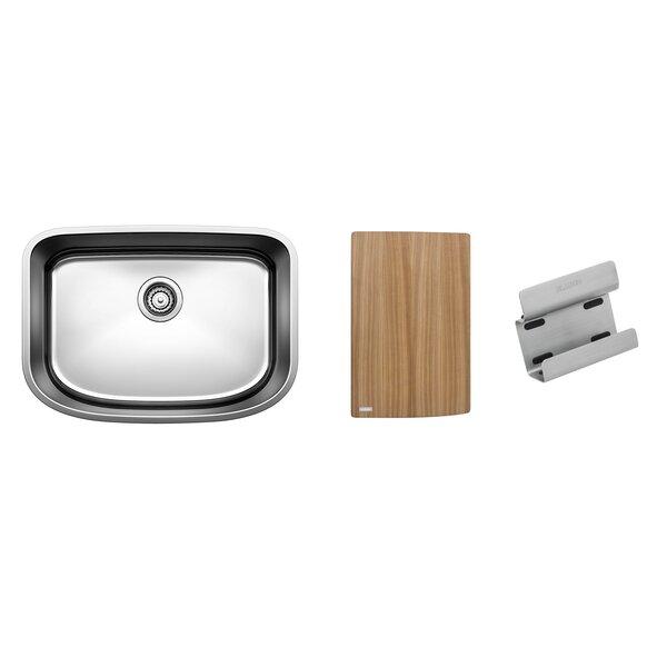 One 25 L x 18 W Undermount Kitchen Sink