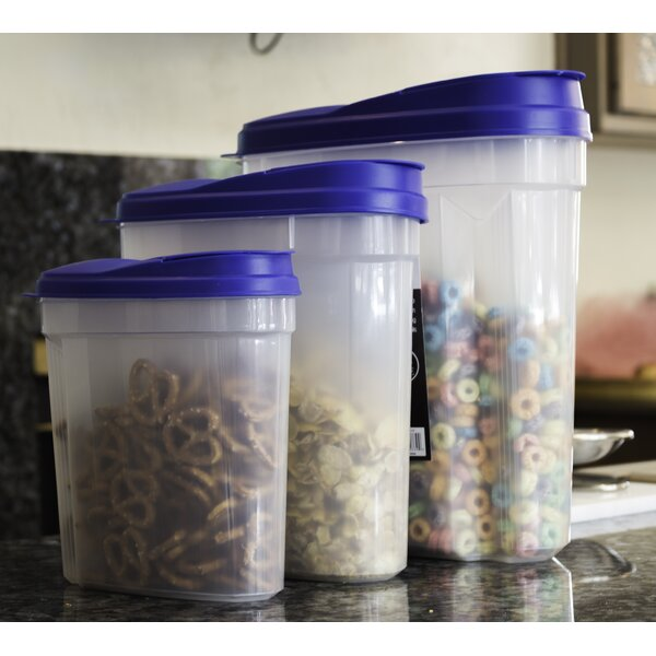 Single Canister Plastic Cereal Dispenser by Rebrilliant