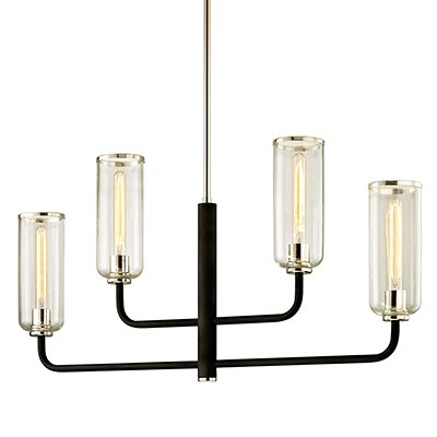 Oakwood 4-Light Shaded Chandelier by Union Rustic