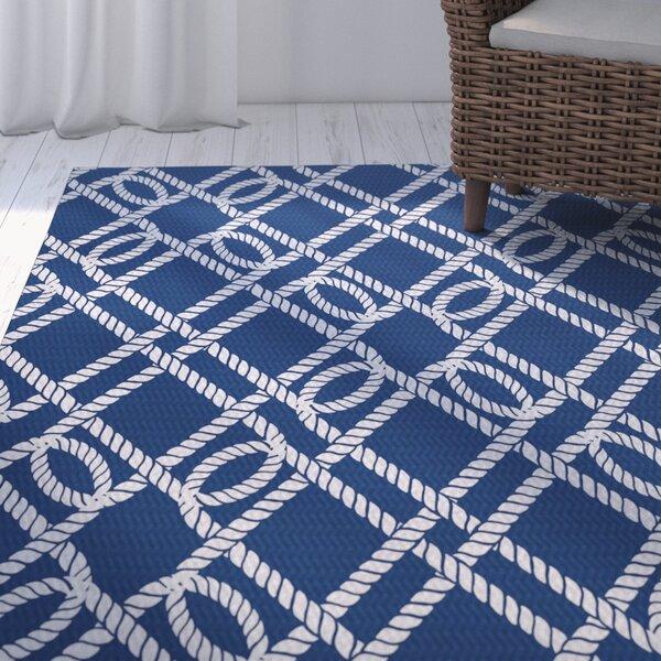 Bridgeport Blue Indoor/Outdoor Area Rug by Beachcrest Home