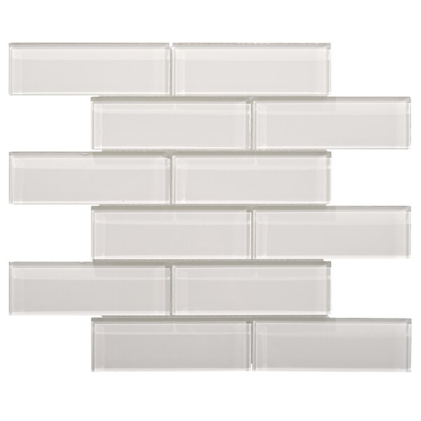 Premium Series 2 x 6 Small Glass Subway Tile in Icy Gray by WS Tiles