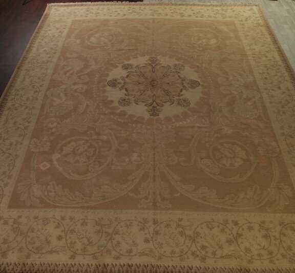 One-of-a-Kind Mccray Oriental Hand-Knotted Wool Beige Area Rug by Canora Grey