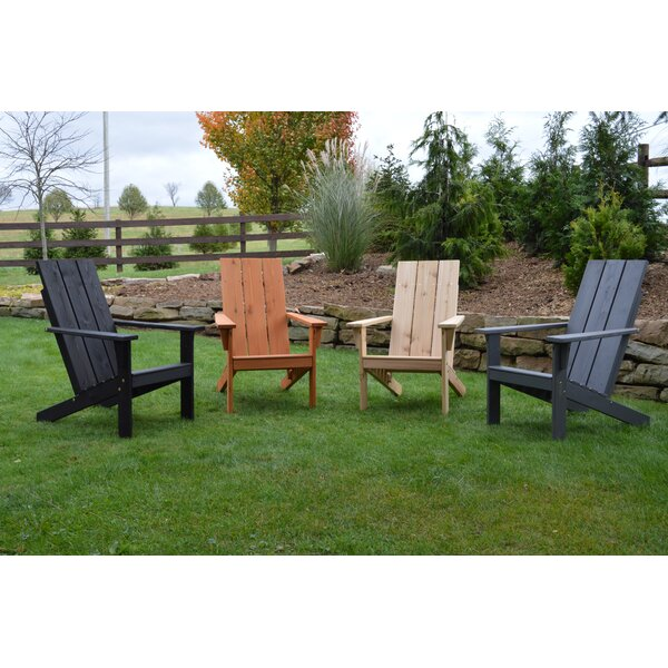 Ameerah Solid Wood Adirondack Chair by Gracie Oaks Gracie Oaks