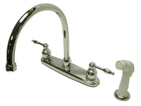Knight Double Handle Kitchen Faucet with Side Spray by Kingston Brass