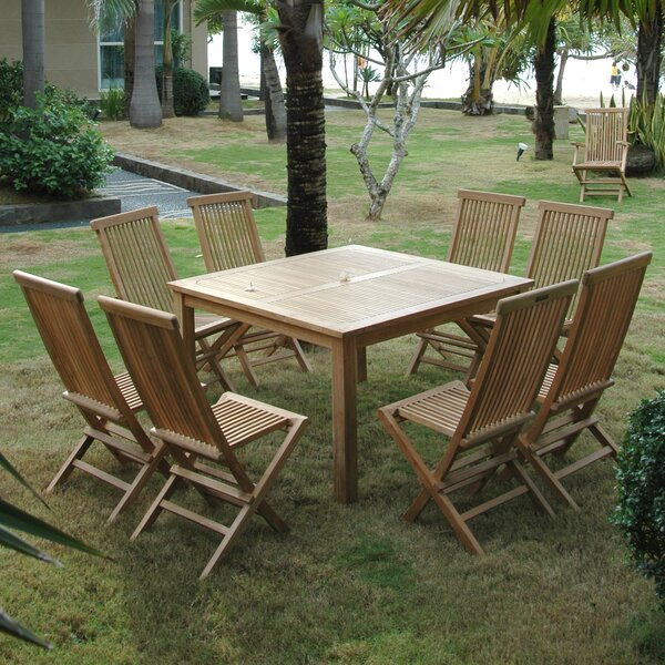 Classic 9 Piece Teak Dining Set by Anderson Teak