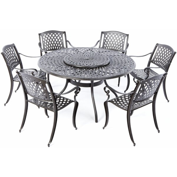 Quince 7 Piece Dining Set with Lazy Susan by Darby Home Co