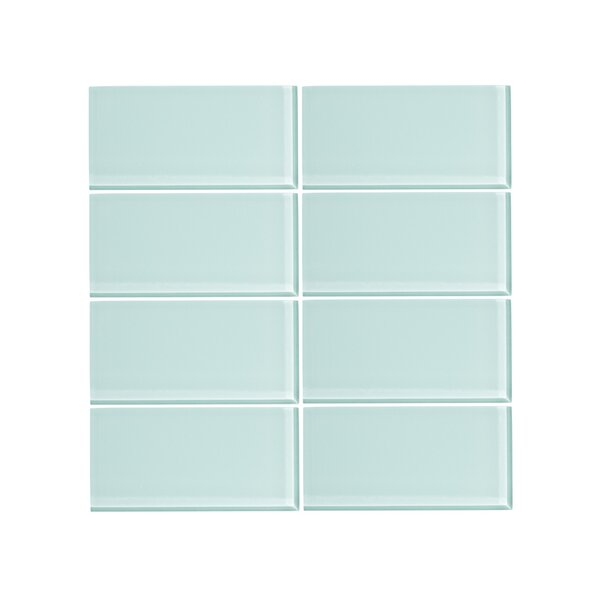 3 x 6 Glass Subway Tile in Spring Blue by Vicci Design
