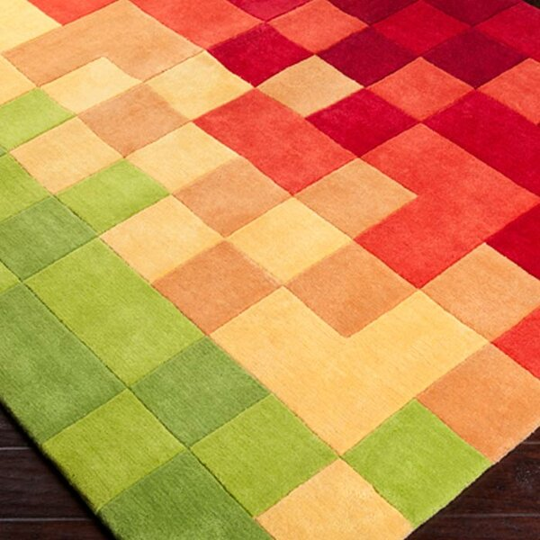 Boughton Peridot/Venetian Red Rug by Wrought Studio