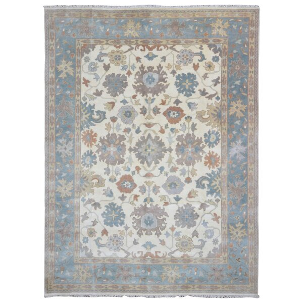 One-of-a-Kind Isabeth Oushak Hand-Woven Wool Blue Area Rug by Darby Home Co