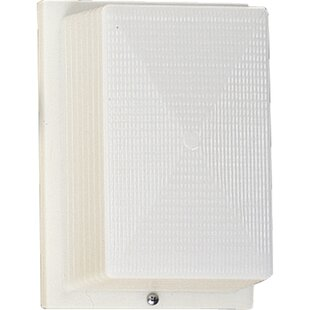 High-End Hollen 1-Light White Flush Mount By Latitude Run