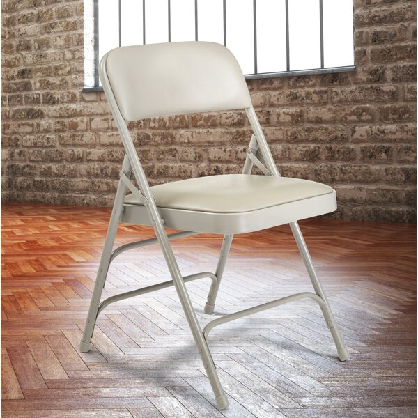 Padded Folding Chairs 1300 Series Vinyl Padded Folding Chair (Set of 4) by National Public Seating