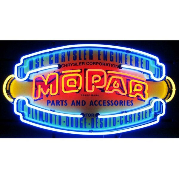 Car & Motorcycles Mopar Vintage Shield Neon Sign b