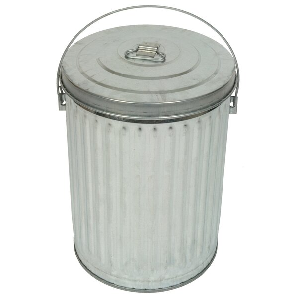 Medium Duty Galvanized 10 Gallon Trash Can by Witt