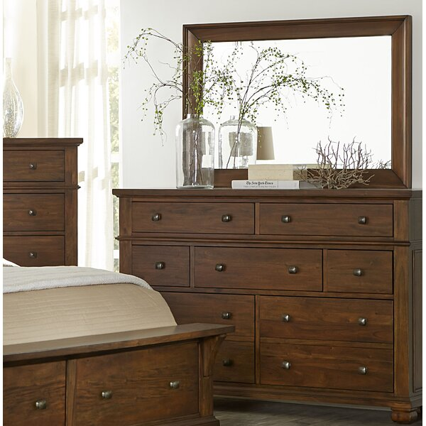 Best  Chesley 7 Drawer Dresser With Mirror By Loon Peak 2019 Coupon