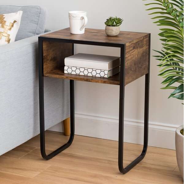 Rebello Sled End Table With Storage By 17 Stories