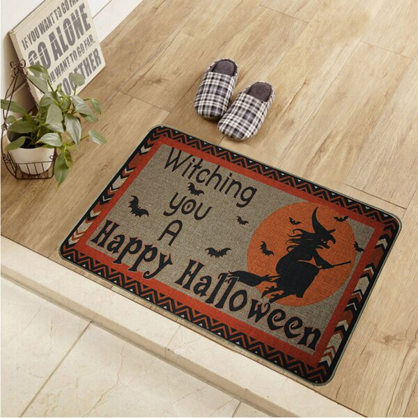 Cotton and Linen Rectangle Printed Rubber Backed Doormat by The Holiday Aisle