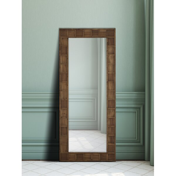 Wood Framed Beveled Glass Wall Mirror by Majestic Mirror