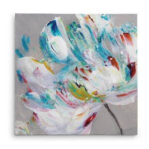'Flower Power' Oil Painting Print on Wrapped Canvas by Winston Porter