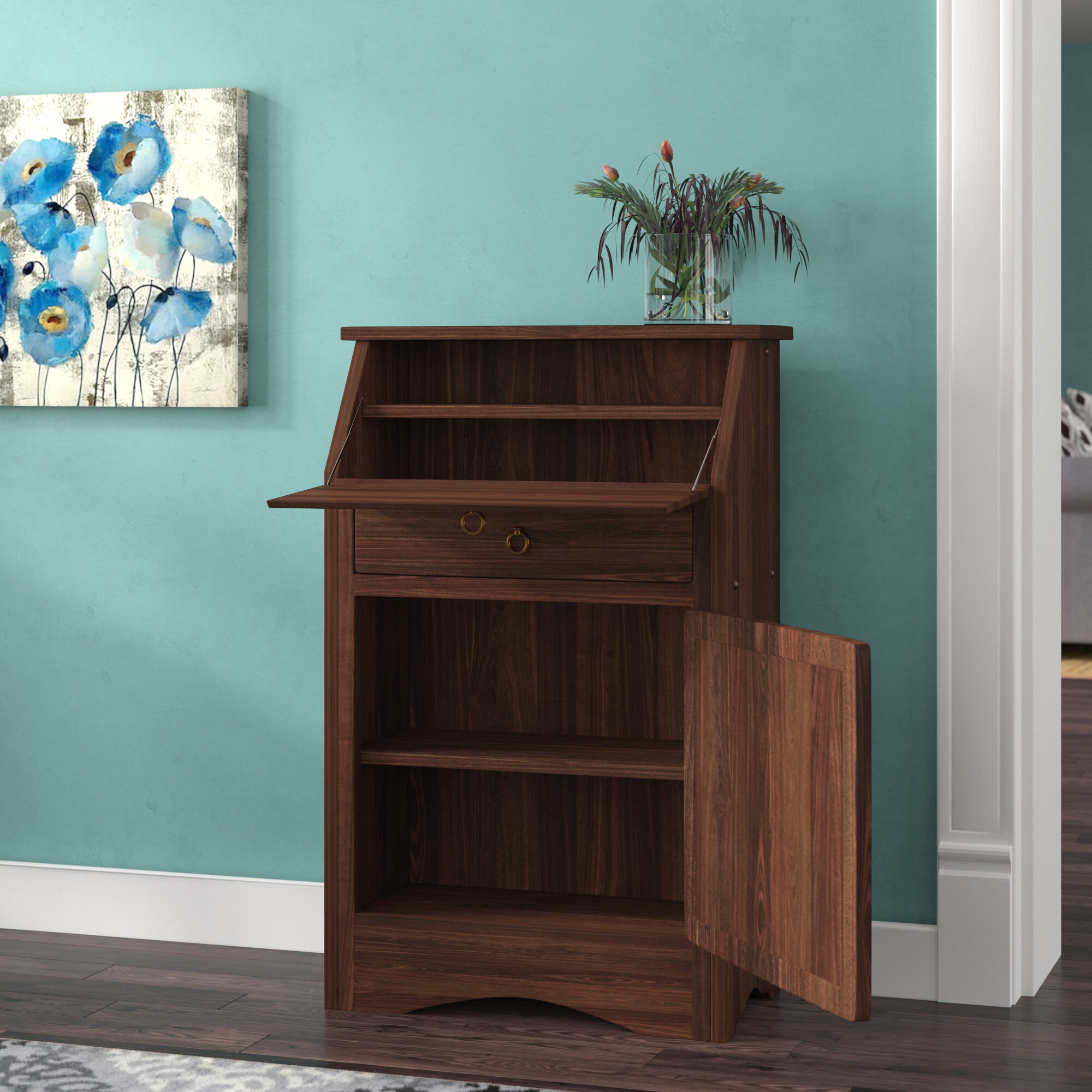 contemporary furniture erton ash asherton products teal home office gray desk desks