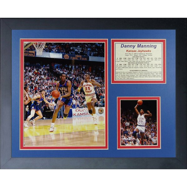 Danny Manning - Kansas Jayhawks Framed Photographic Print by Legends Never Die