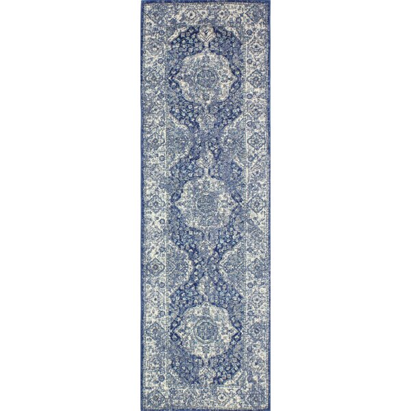 Amhurst Dark Blue Area Rug by Lark Manor
