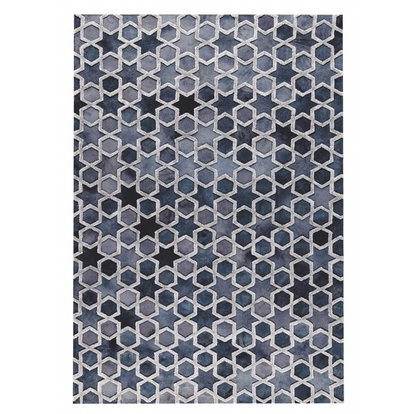 Nihal Hand-Woven Gray/Blue Area Rug by M.A. Trading