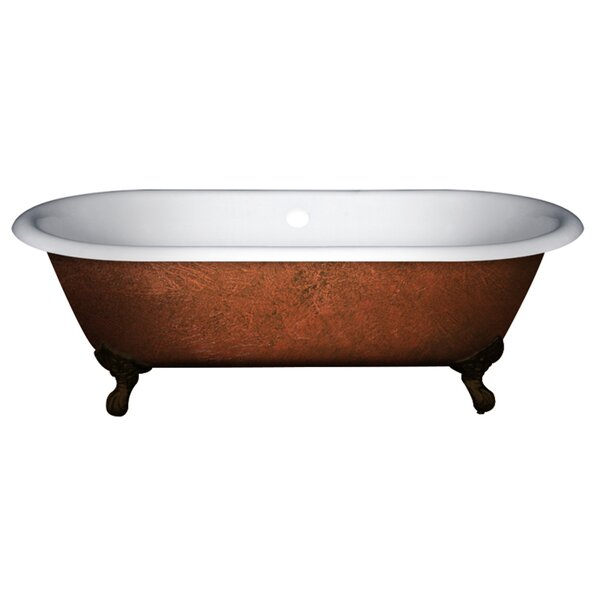 Cast Iron Clawfoot 67 x 30 Freestanding Soaking Bathtub by Cambridge Plumbing