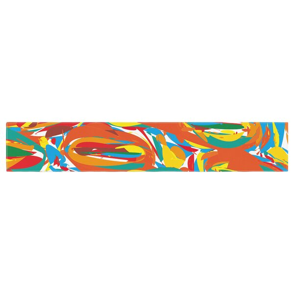 Matthias Hennig Go Left Crazy Table Runner by East Urban Home