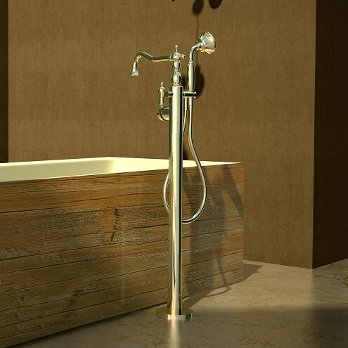freestanding tub faucet wall mount brushed nickel filler single handle floor mounted hand shower chrome