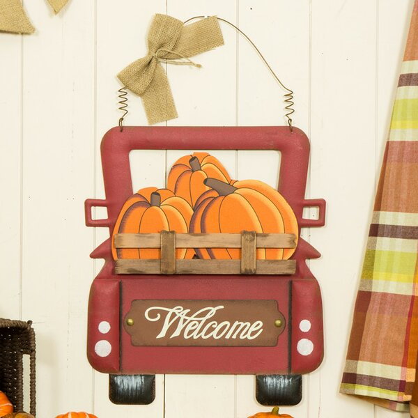 Pumpkins Truck Wall Decor by Red Barrel Studio