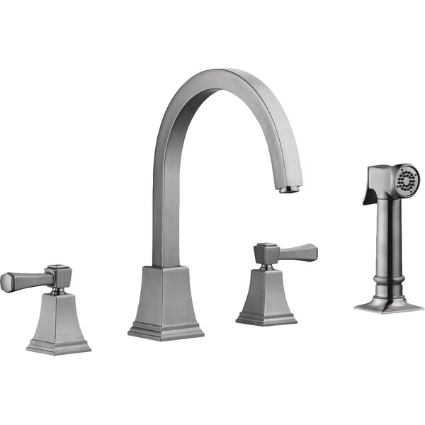 Torino Double Handle Kitchen Faucet with Side Spray by Design House