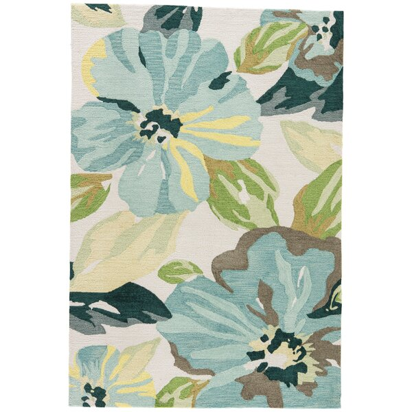Isidore Hand Tufted Blue/Green Area Rug by Highland Dunes