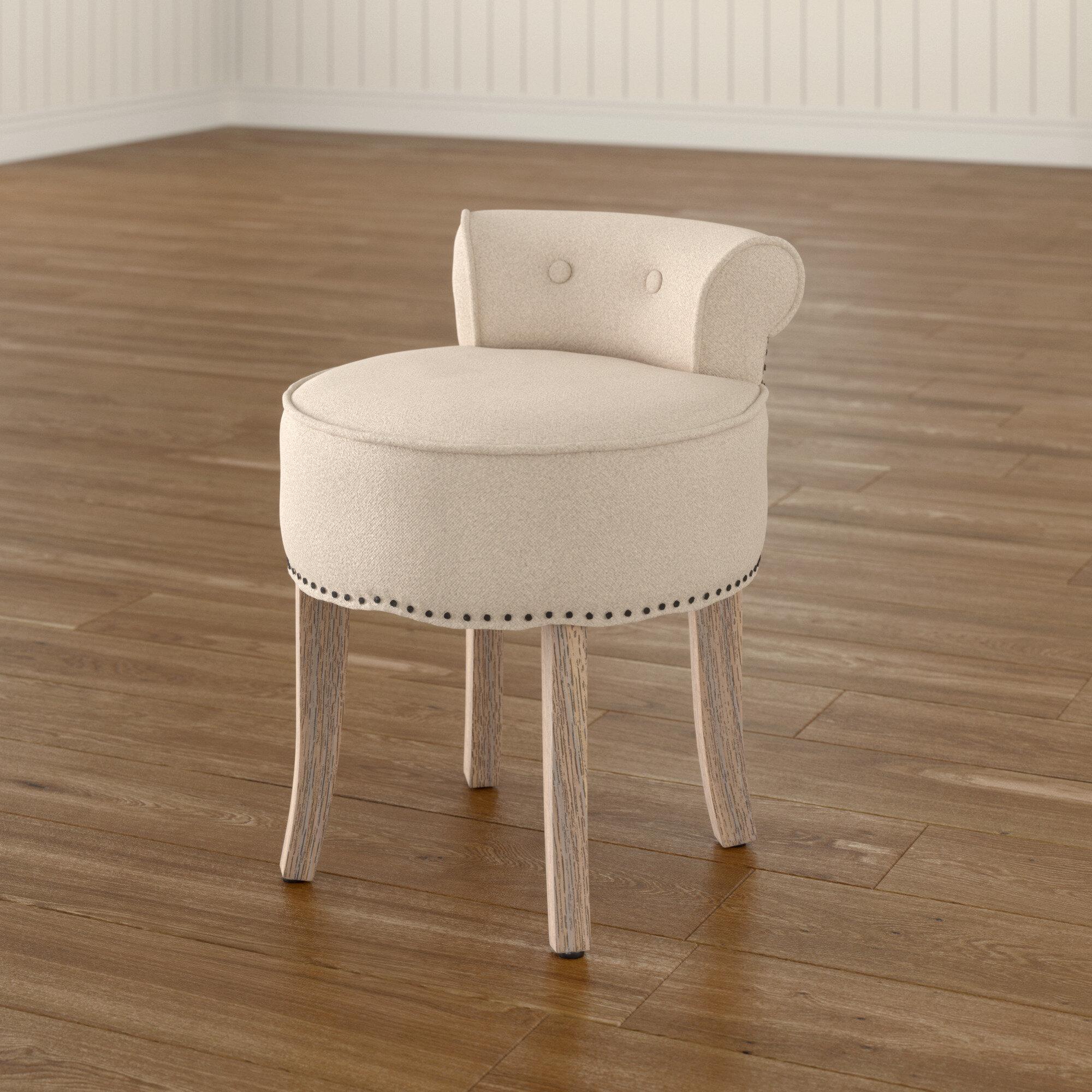 Excellent Lark Manor Charly Vanity Stool Reviews Wayfair Ncnpc Chair Design For Home Ncnpcorg