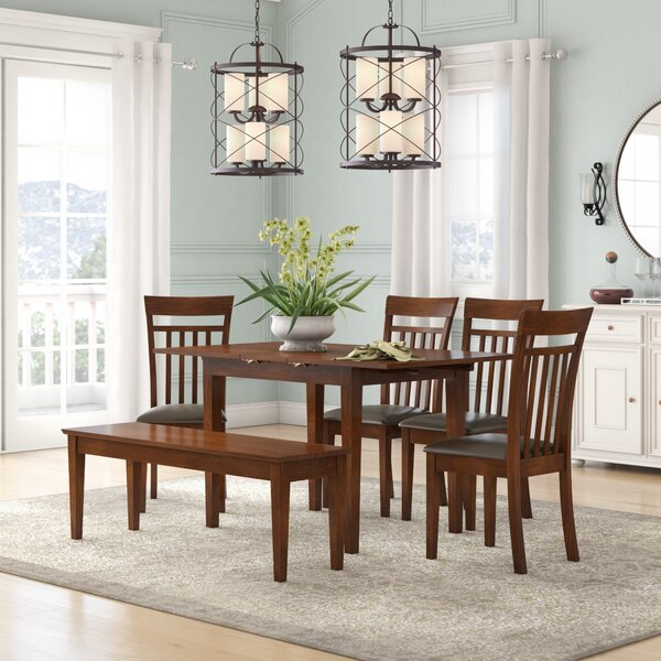Balfor Faux Leather 6 Piece Dining Set by Andover Mills