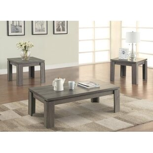 Gibbon 3 Piece Coffee Table Set by Highland Dunes