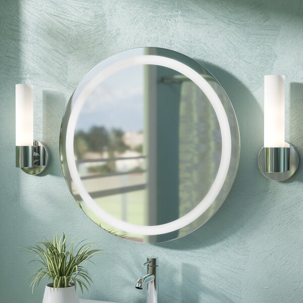 Tiemeyer LED Wall Mirror by Orren Ellis