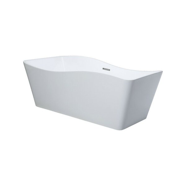 Ondulato 67 x 31 Freestanding Soaking Bathtub by Kube Bath