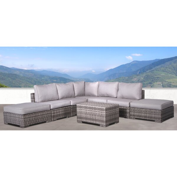 Pierson Double Ottoman 4 Piece Sectional Set with Cushions by Brayden Studio