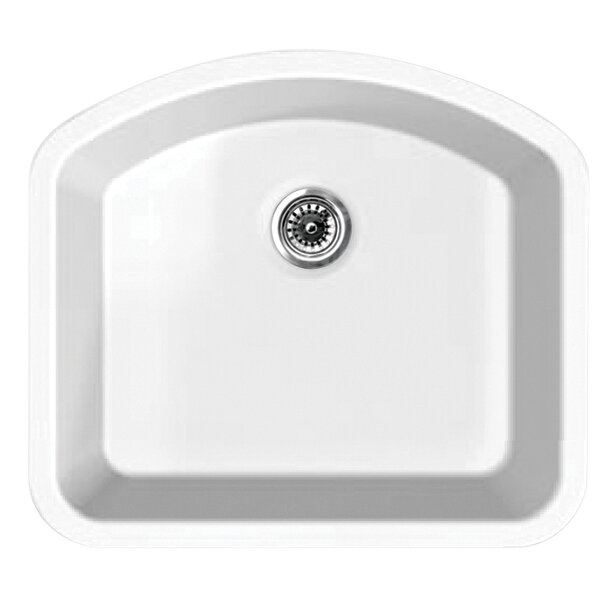 Elementhaus 23.25 L x 20.75 W Single Bowl Undermount Kitchen Sink by Whitehaus Collection