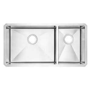 35 L x 21.75 W Undermount Double Combination Bowl Kitchen Sink by American Standard