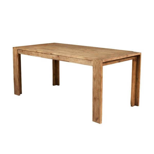 Bridgecliff Rectangular Wooden Fixed Top and Block Legs Dining Table by Union Rustic