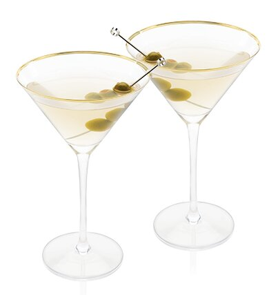 Belmont™ Crystal 8 oz. Martini Glass (Set of 2) by Viski