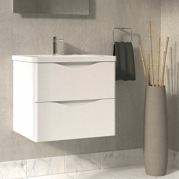 Quiroga 24 Wall-Mounted Single Bathroom Vanity Set by Orren Ellis