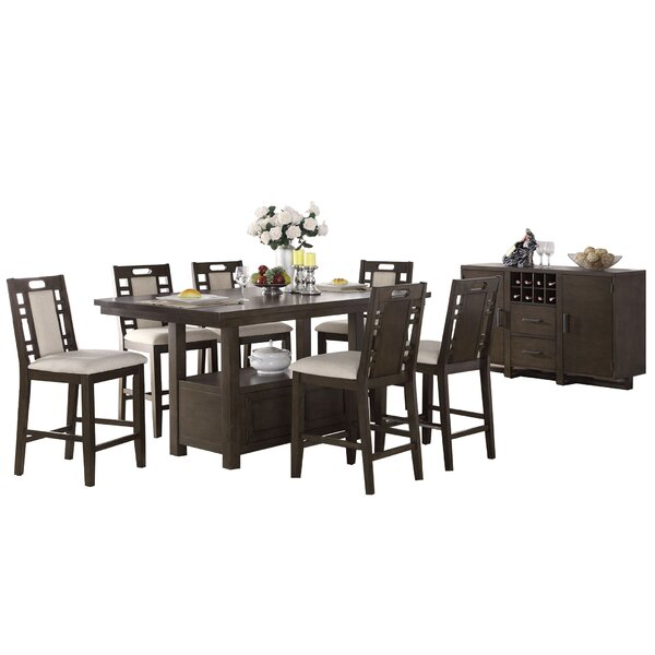 Bobkona Parker 8 Piece Counter Height Dining Set by Poundex