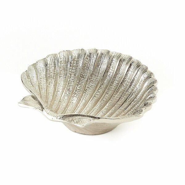 Appleton Nickel Plated Shell Platter by Highland Dunes