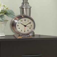 Metal Quartz Alarm Clock by Trent Austin Design